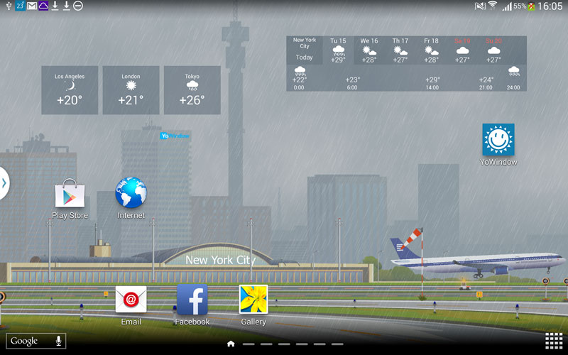YoWindow Weather for Android preview