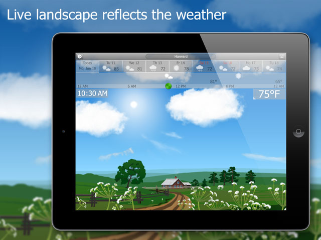 Astonishingly Detailed Weather Landscapes Come to iPad with YoWindow