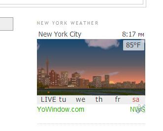 Blogger weather widget