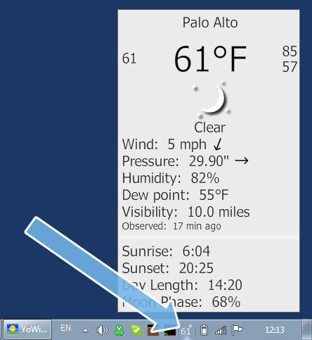 Free taskbar weather